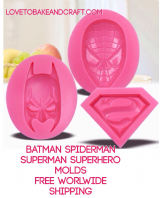 Batman mold, Superman mold, Spiderman mold, Superheroes mould, free worldwide shipping